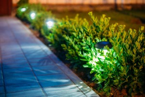 solar-powered, outdoor lighting