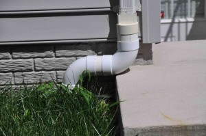 An outdoor pipe